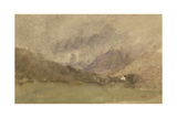 Capel Curig, Caernarvonshire, Wales Giclee Print by David Cox