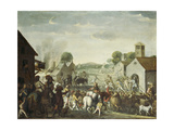 Troops Plundering a Village During the Thirty Year' War, 1660 Giclee Print by Cornelis De Wael