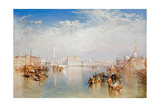 View of Venice: the Ducal Palace, Dogana and Part of San Giorgio, 1841 Giclee Print by J. M. W. Turner