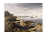 St. Mary's Island from Whitley Rocks, 1845 Giclee Print by John Wilson Carmichael