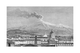 Mount Etna, from Catania Giclee Print by German School