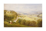 Valley of the Aire, Armley Pastures and Kirkstall, 1853 Giclee Print by George Alexander