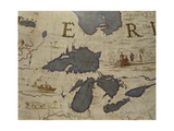 Terrestrial Globe, Detail of the Great Lakes and Hudson Bay, 1683 Giclee Print by Vincenzo Maria Coronelli