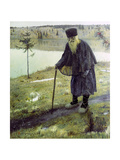 The Hermit Giclee Print by Mikhail Vasilievich Nesterov