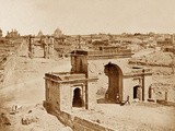 The Bailee Guard Gate, Lucknow Photographic Print by Felice Beato