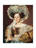 Portrait of Barbara Smetanova, Mother of Federic Smetana Giclee Print by Antonin Machek
