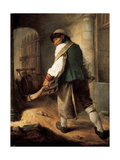 A Villager, 1756 Giclee Print by Charles-francois Hutin