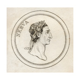 Nerva Caesar Augustus, from 'Crabb's Historical Dictionary', Published 1825 Giclee Print