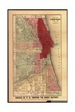 Chicago as it Is, Showing the Burnt District, from 'History of the Great Fires in Chicago and the… Giclee Print by Gaylord Watson