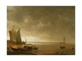 Schiffe vor der Küste Giclée-Druck von Lieve Verschuier