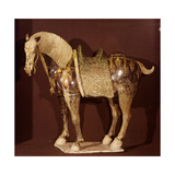 Figurine of a Horse, from a Tomb Giclee Print by Tang Dynasty Chinese School