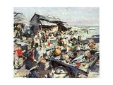 Market Giclee Print by Konstantin Alekseevich Korovin