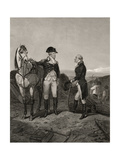 First Meeting of George Washington and Alexander Hamilton, from 'Life and Times of Washington',… Giclee Print by Alonzo Chappel