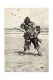 'I Stood Like One Thunderstruck', Illustration from 'Robinson Crusoe' by Daniel Defoe (1660-1731)… Giclee Print by Walter Stanley Paget