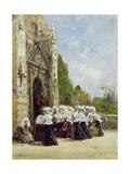 Pardon En Bretagne, C.1865-70 Giclee Print by Eugene Louis Boudin