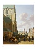 The Grote Markt, Haarlem, Looking West Giclee Print by Gerrit Adriaensz Berckheyde