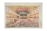 The Interior of the Nakamura Theatre, Sakai Street, Published by Nishinomiya Shinroku, before 1841 Giclee Print by Utagawa Yoshimara