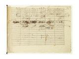 'Wellington's Victory, Op. 91', Page 36, Composed by Ludwig Van Beethoven (1770-1827) Giclee Print by Ludwig Van Beethoven