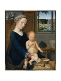 Madonna with the Milk Soup Giclee Print by Gerard David