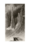 Tennyson's Monument, Engraved by J. Mcgoffin, from 'Arctic Explorations in the Years 1853, 54,… Giclee Print by James Hamilton