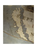 Terrestrial Globe, Detail of the Island of California, 1683 Giclee Print by Vincenzo Maria Coronelli