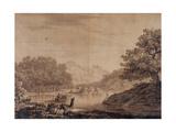 Italian Landscape, 1766 Giclee Print by Alexander Cozens
