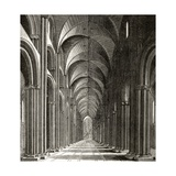 Interior of the Nave of St. Paul's, from 'London Pictures: Drawn with Pen and Pencil', by Rev.… Lámina giclée por Wenceslaus Hollar