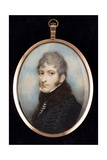 Portrait Miniature of an Officer of the Hussars Giclee Print by Andrew Plimer