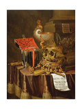 A Vanitas Still Life, 1689 Giclee Print by Evert Collier