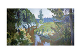 In the Green Banks Giclee Print by Arkadij Aleksandrovic Rylov