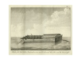 Sketch of a Flat Bottom Boat, Such as are Used to Descend the Ohio and the Mississippi, Published… Giclee Print by Ambroise Tardieu