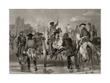 Mortally Wounded General Edward Braddock Retreats from the Monongahela River in 1755 after an… Giclee Print by Alonzo Chappel