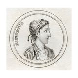 Flavius Honorius, from 'Crabb's Historical Dictionary', Published 1825 Giclee Print
