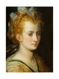 Head of a Young Woman, C.1555 Giclee Print by Frans Floris