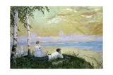 On the Volga Giclee Print by Boris Mikhailovich Kustodiev