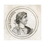 Theodosius the Great, from 'Crabb's Historical Dictionary', Published 1825 Giclee Print