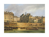 Hotel De Ville and Embankment, Paris, 1828 Giclee Print by Guiseppe Canella