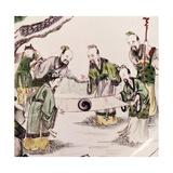 Sages with Yin Yang Symbol, Kang Hsi Period, 1661-1722 Giclee Print