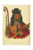Kish-Ke-Kosh, a Fox Brave, 1848 Giclee Print by Thomas Loraine Mckenney