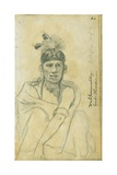 Portrait of Good Thunder in the Costume of a Ball-Player, 1851 Giclee Print by Frank Blackwell Mayer