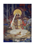 Devaki, Mother of Krishna Giclée-tryk af Marianne Stokes