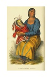 A Chippeway Widow, 1854 Giclee Print by Thomas Loraine Mckenney