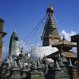 Stupa, Built 7th-12Th/14th Centuries Photographic Print
