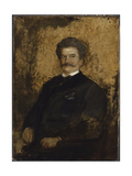 Portrait of Johann Strauss the Younger, 1895 Giclee Print by Franz Seraph von Lenbach