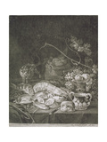 Banquet Piece with Lobsters, Fish and Cat Giclee Print by Robert Robinson