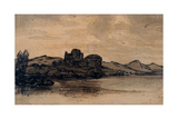 Italian Landscape with Domed Building Giclee Print by Alexander Cozens