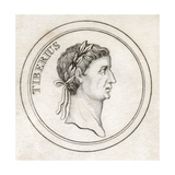 Tiberius I, from 'Crabb's Historical Dictionary', Published 1825 Giclee Print