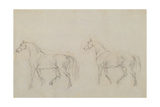Two Horses Walking Left Giclee Print by Sawrey Gilpin