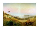 The Celestial City and the River of Bliss, 1841 Giclee Print by John Martin