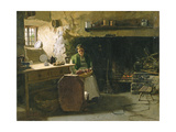 Peeling Potatoes Giclee Print by Frank Holl
